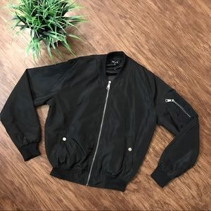 Jackets & Blazers - Black bomber jacket